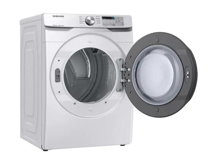 Samsung 7.5 Cu. Ft. Electric Dryer with Steam Sanitize+ in White - Smart Neighbor