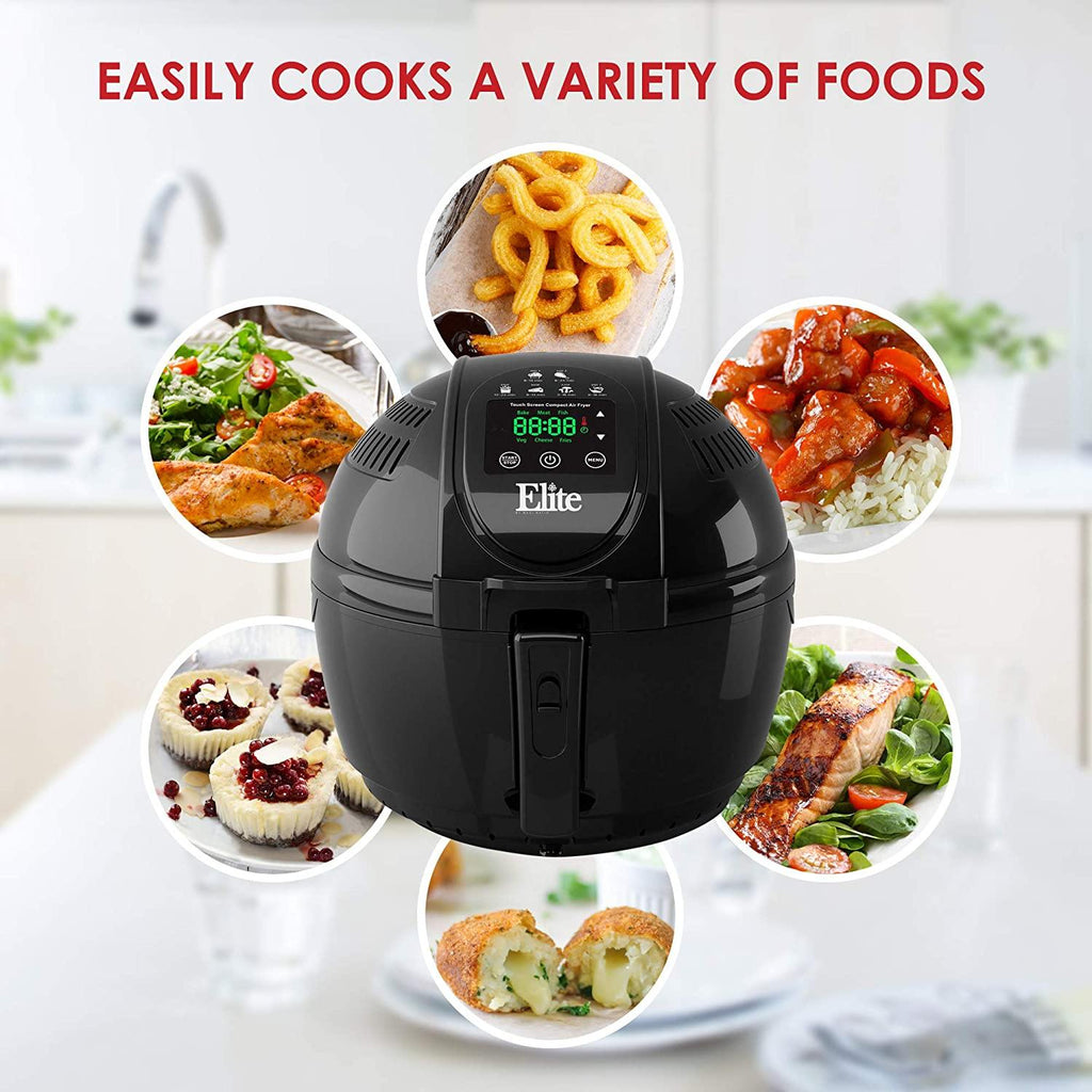 Elite Platinum Electric Digital Hot Air Fryer Oil-Less Healthy Cooker Timer & Temperature Controls - Smart Neighbor