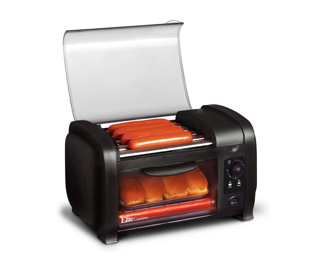 Hot Dog Roller/Toaster Oven Black - Smart Neighbor