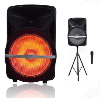 "Edison Professional 15"" Portable Bluetooth Speaker Set"