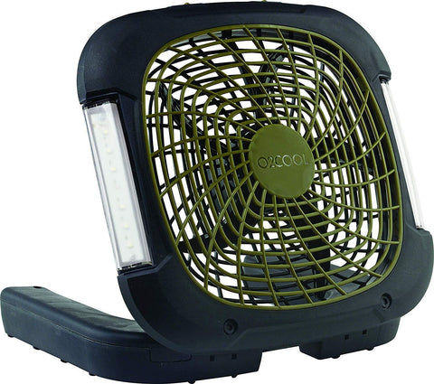 10-Inch Portable Camping Fan with Lights