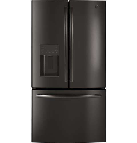 GE 25.5 Cu. Ft. French Door Refrigerator in Black Stainless Steel