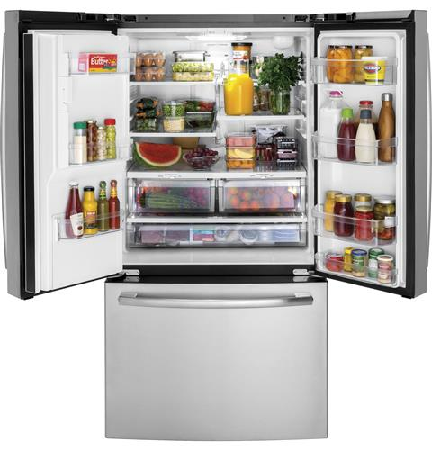 GE 25.5 Cu.Ft. French Door Refrigerator in Stainless Steel