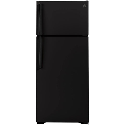 GE® 17.5 Cu. Ft. Top-Freezer Refrigerator Black