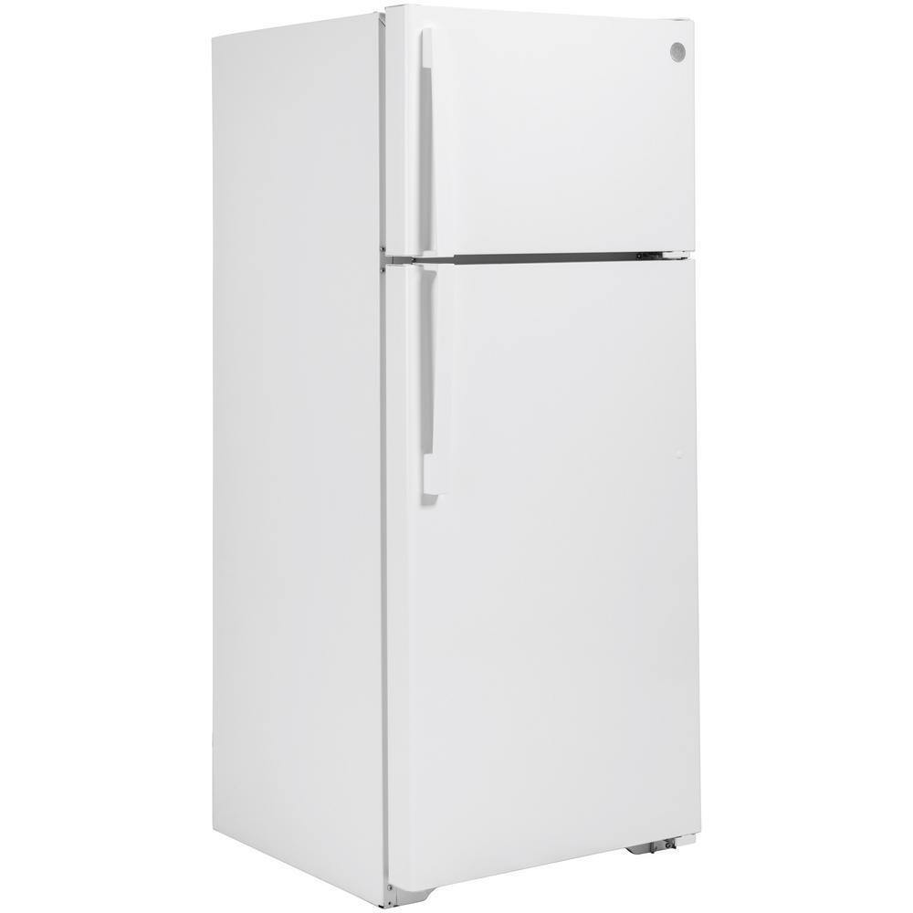 GE 17.5 Cu. Ft. Top-Freezer Refrigerator White