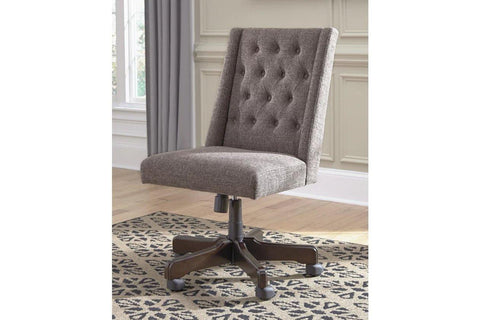 Ashley Swivel Home Office Desk Chair in Graphite