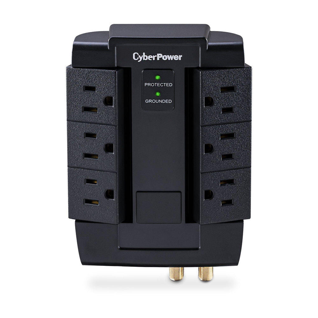 6-Outlet Swivel Home Theater Surge Protector