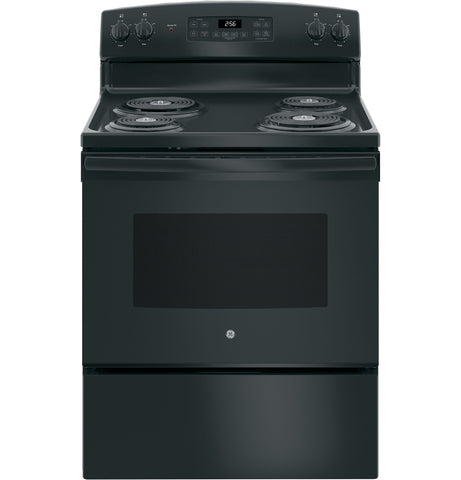 "GE 30"" Free-Standing Electric Range in Black"