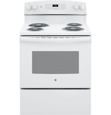 "GE 30"" Free-Standing Electric Range in White"