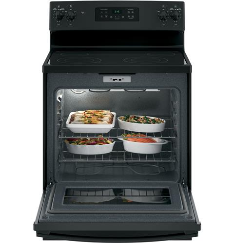 "GE 30"" Freestanding Electric Ranges in Black"