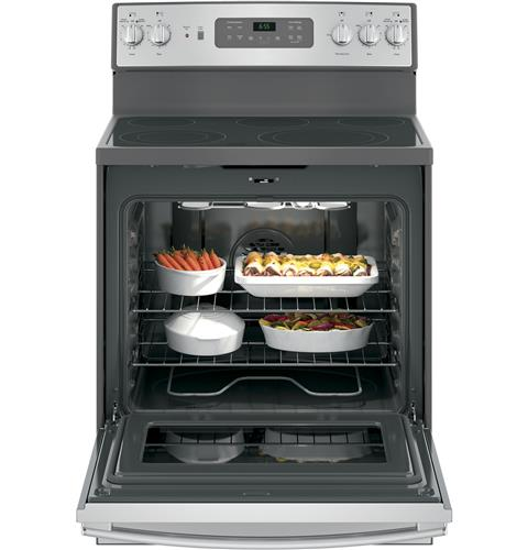 "GE 30"" Freestanding Electric Range in Stainless Steel"