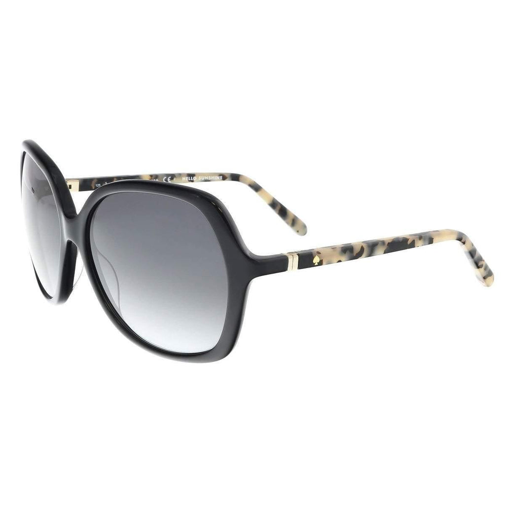 Kate Spade Jonell Sunglasses in Black Havana Frame and Gray Gradient Lens