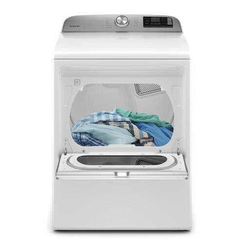 Maytag 7.4 Cu. Ft. Smart Capable Front Load Electric Dryer with Extra Power Button - Smart Neighbor