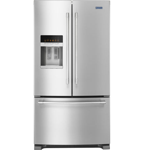 "Maytag 36""W French Door Refrigerator with PowerCold Feature - 25 Cu. Ft."