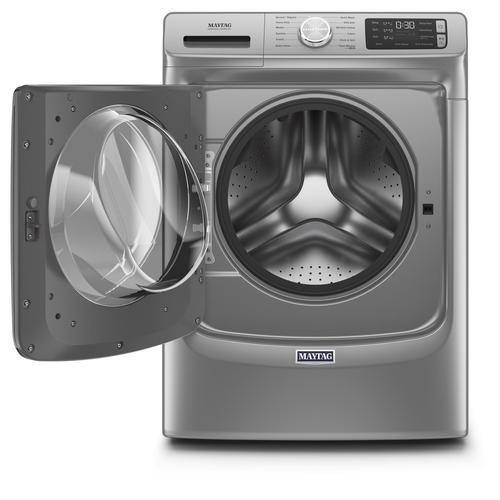 Maytag 4.8 Cu. Ft. Front Load Washer with Extra Power and 16-Hr Fresh Hold® Metallic Slate