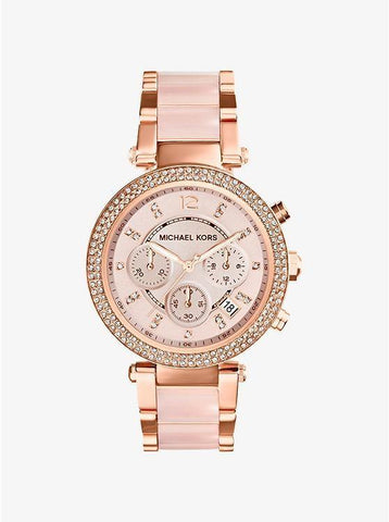 Michael Kors Parker Rose Gold-tone Stainless Steel Watch MK5896