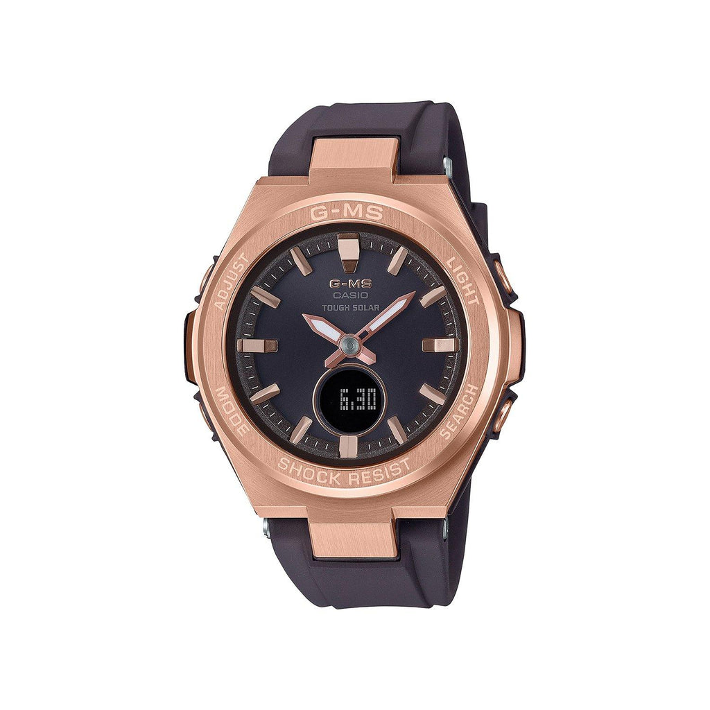 Ladies Baby-G G-MS Ana-Digi Black & Rose Gold Watch Black Dial