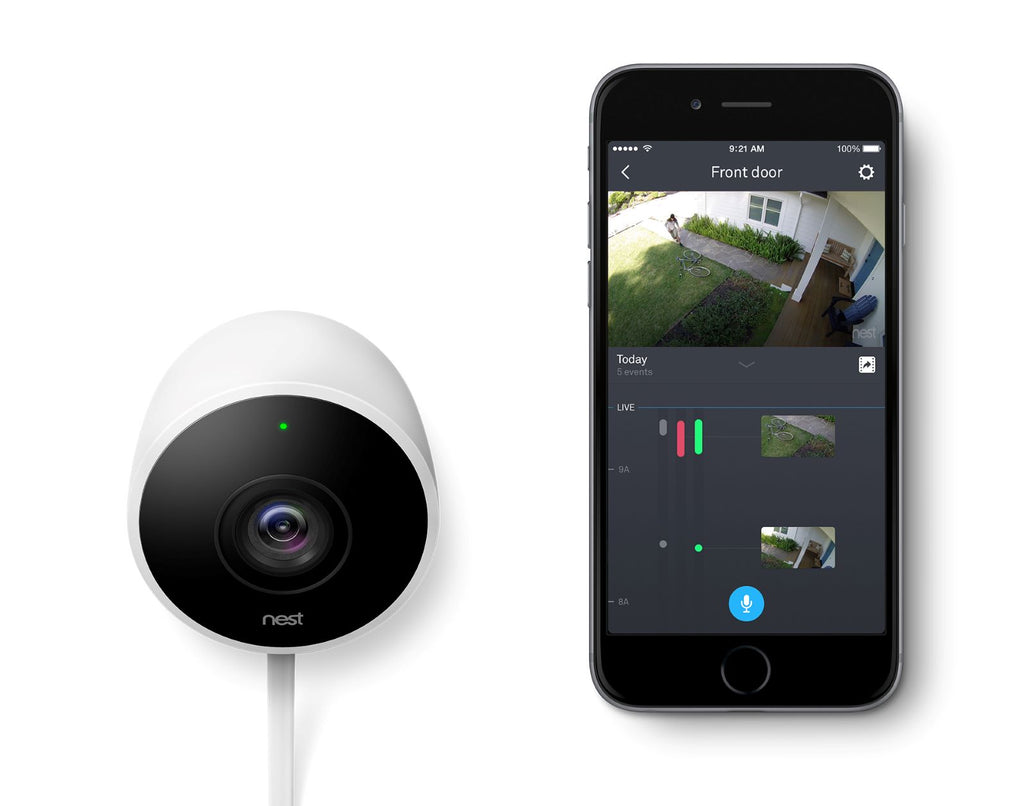 nest cam outdoor security camera 1080p white. Black Bedroom Furniture Sets. Home Design Ideas