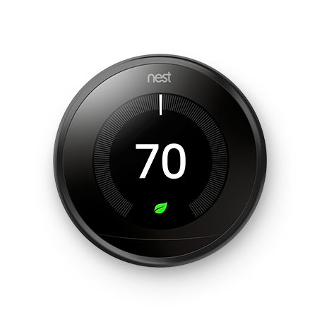 Google Nest Learning Thermostat - 3rd Generation - Black