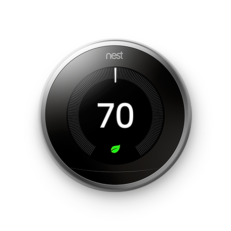 Google Nest Learning Thermostat -  3rd Generation - Silver