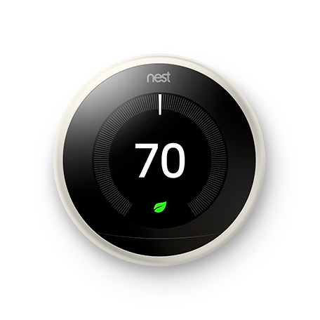 Google Nest Learning Thermostat - 3rd Generation - White