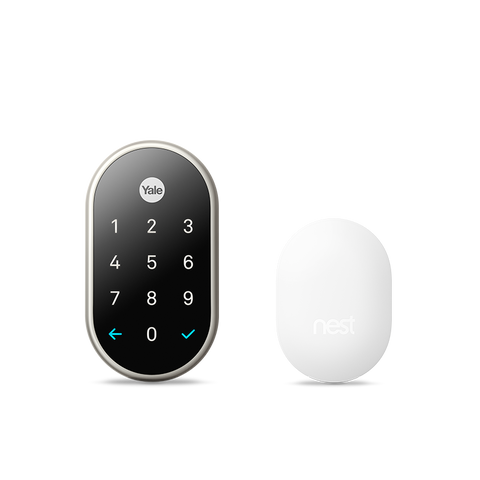 Nest x Yale Smart Lock with Google Nest Connect in Satin Nickel