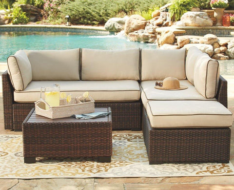 Ashley Loughran 4-piece Outdoor Sectional Set