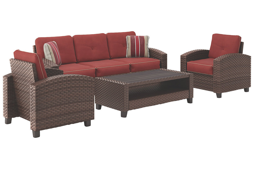 Signature Design by Ashley Meadowtown Outdoor 4-piece Conversation Set