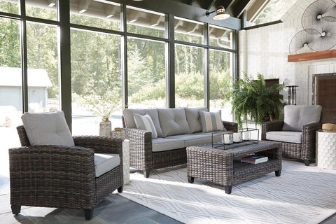 Ashley Cloverbrooke 4-Piece Outdoor Conversation Set - Smart Neighbor