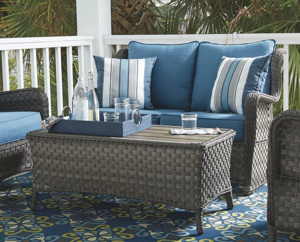 Abbots Court Loveseat Glider with Table P360-035/820