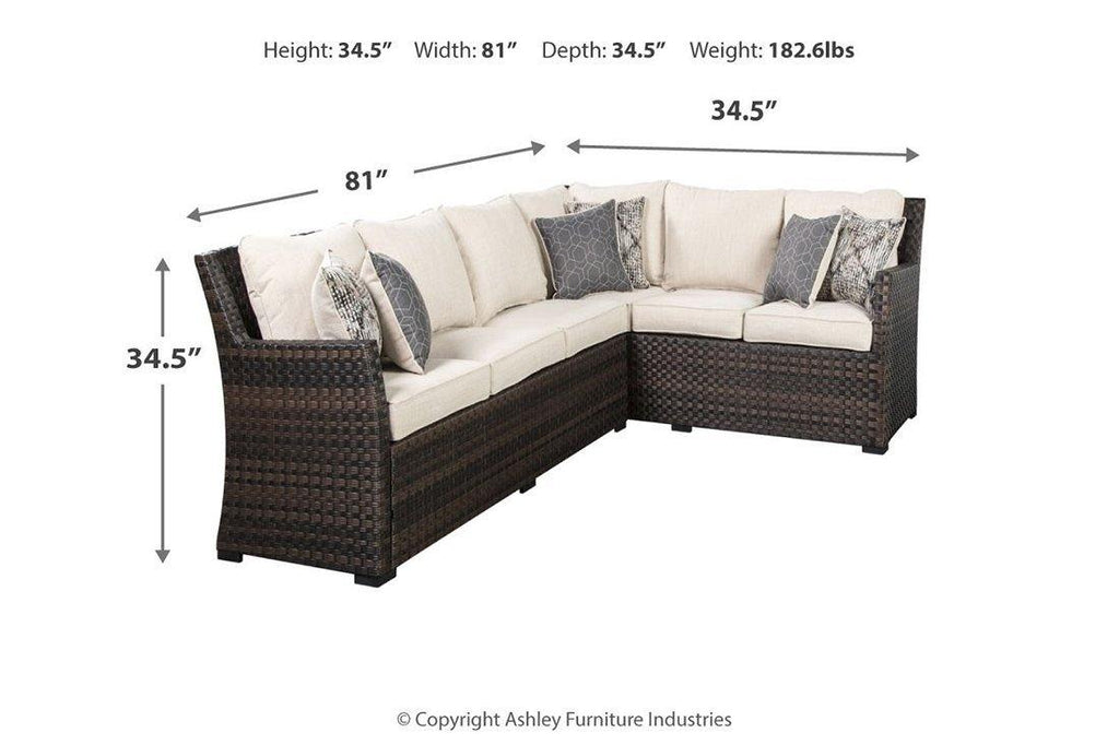 Ashley Easy Isle Two-Piece Sectional and Lounge Chair