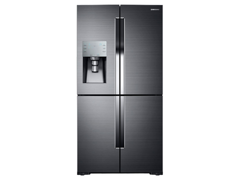 Samsung 28 Cu Ft 4-Door Flex Refrigerator with FlexZone Black Stainless Steel