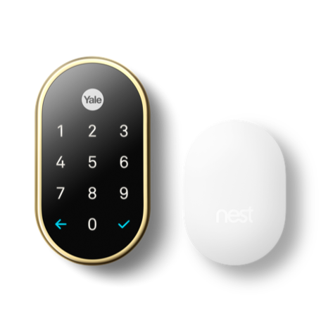 Nest x Yale Smart Lock with Google Nest Connect in Polished Brass