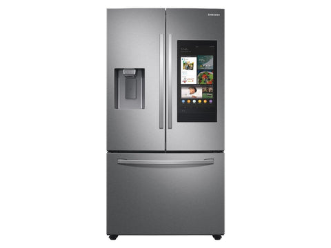 Samsung 26.5 cu. ft. Large Capacity 3-Door French Door Refrigerator with Family Hub™ and External Water & Ice Dispenser in Stainless Steel
