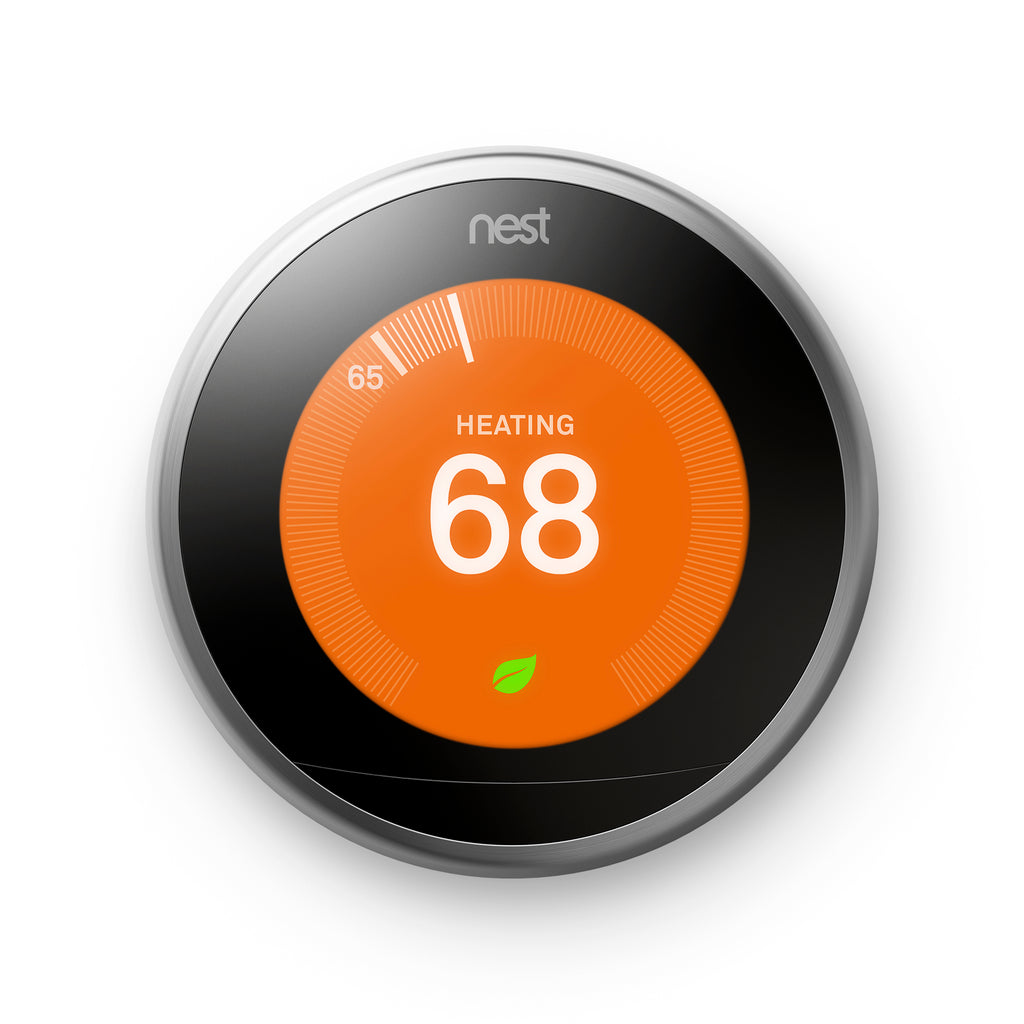 Google Nest Learning Thermostat - 3rd Generation - Stainless Steel