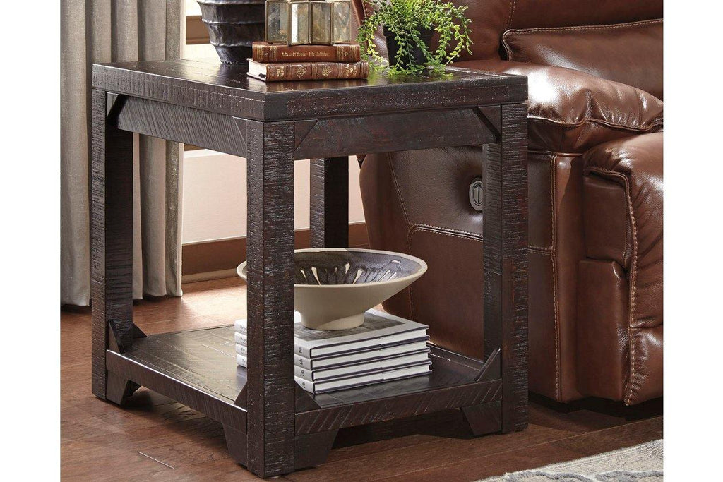 Ashley Furniture Rogness Rustic Brown Rectangular End Table