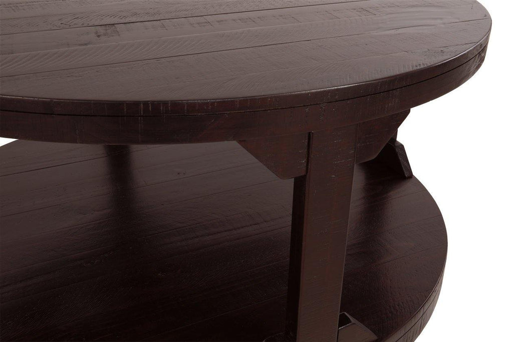 Ashley Furniture Rogness Rustic Brown Round Cocktail Table