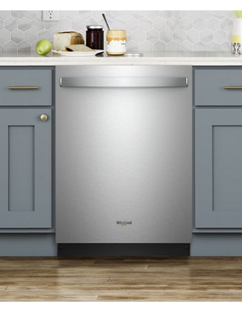 Whirlpool Built-In Dishwasher with Fan Dry in Stainless Steel