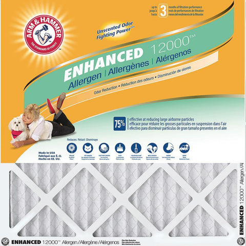 Arm & Hammer Enhanced Allergen & Odor Control Air Filter 4-Pack