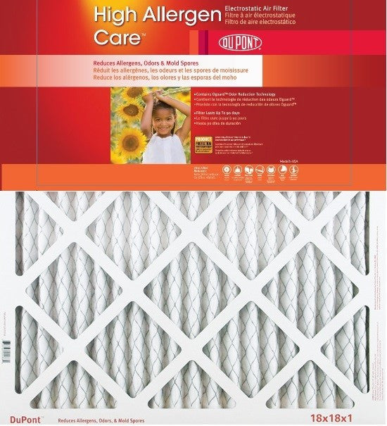 DuPont High Allergen Care Electrostatic Air Filter