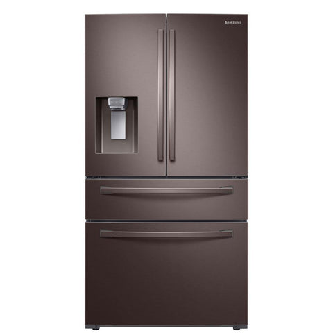 Samsung 23 Cu. Ft. 4-Door French Door Smart Counter-Depth Refrigerator in Fingerprint-Resistant Tuscan Stainless Steel