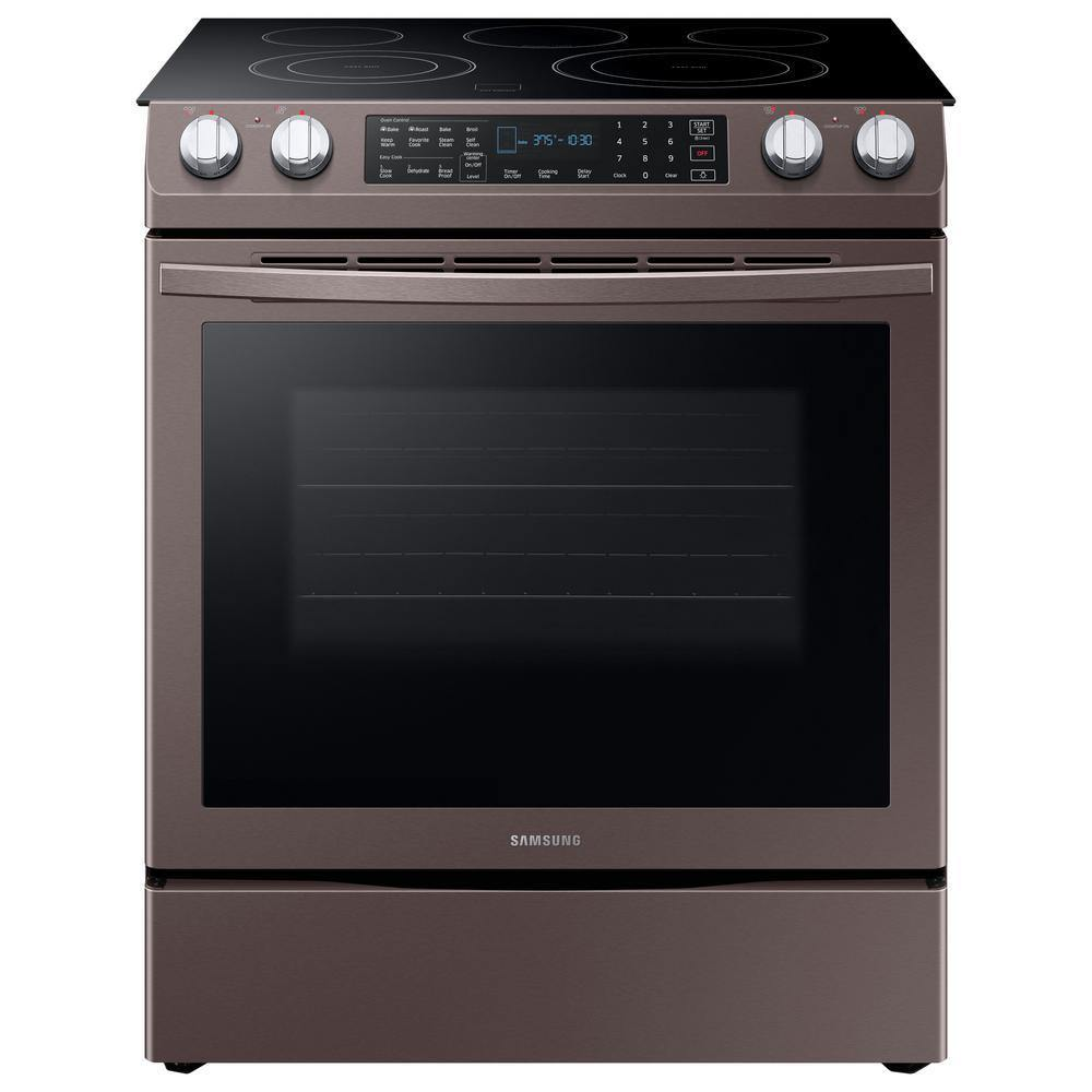 Samsung 5.8 Cu. Ft. Slide-in Electric Dual Convection Range