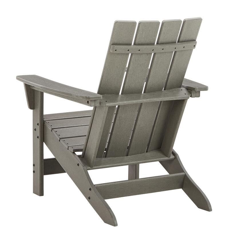 Ashley Visola-Gray Outdoor Adirondack Chairs With End Table
