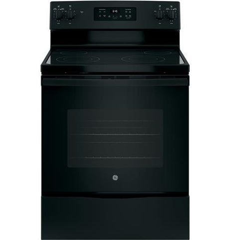 "GE 30"" Freestanding Electric Range in Black"