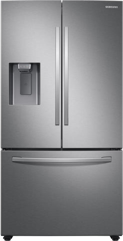 Samsung 27 cu. ft. Large Capacity 3-Door French Door Refrigerator with External Water & Ice Dispenser in Stainless Steel