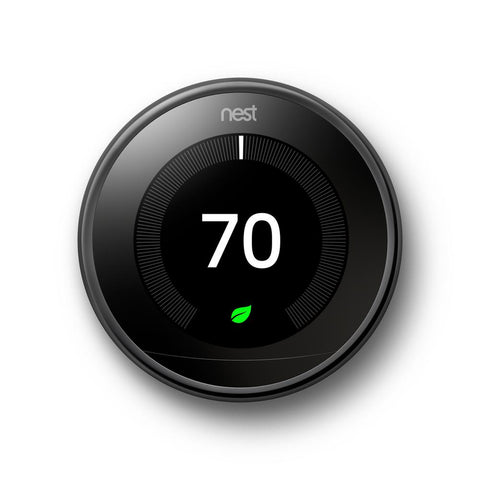Google Nest Learning Thermostat - 3rd Generation - Mirror Black