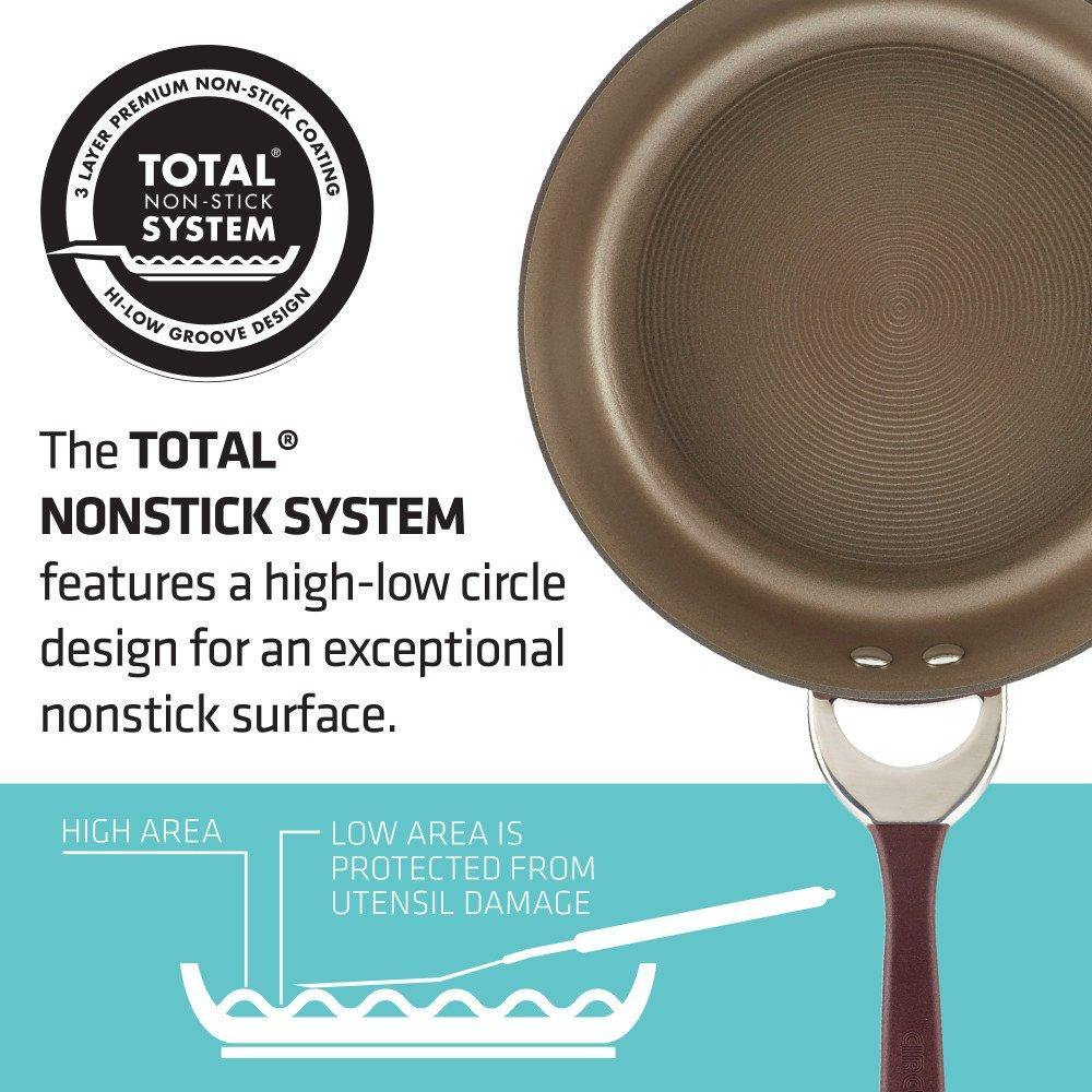Circulon® Symmetry Hard-Anodized Nonstick 11-Piece Cookware Set 87528