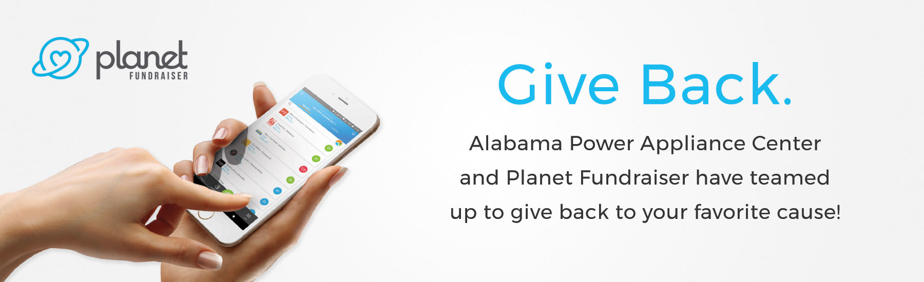 Give back with Planet Fundraiser and Alabama Power Appliance Center