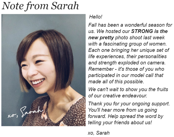 Note from Sarah | BLUISH Founder