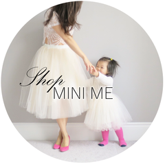 Shop mini me BLUISH tulle skirt tutu